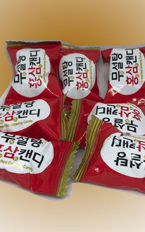 Kẹo hồng sâm không đường 500gr (0.1%)