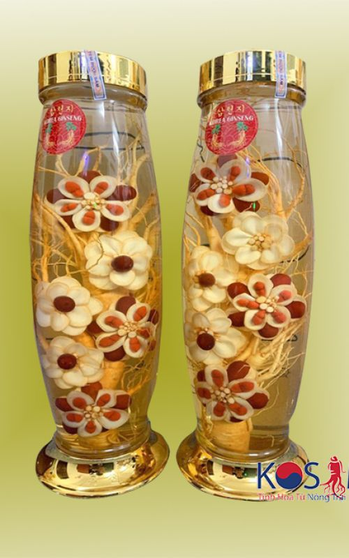 Bình rượu hoa sâm